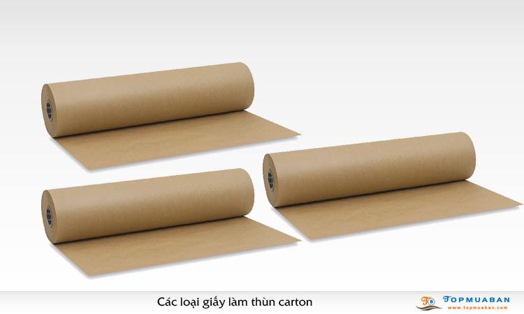 Các loại giấy làm thùng carton