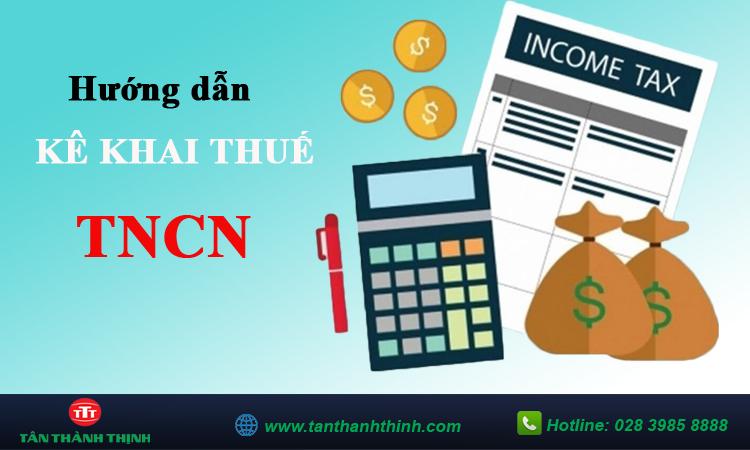 Cách kê khai thuế TNCN